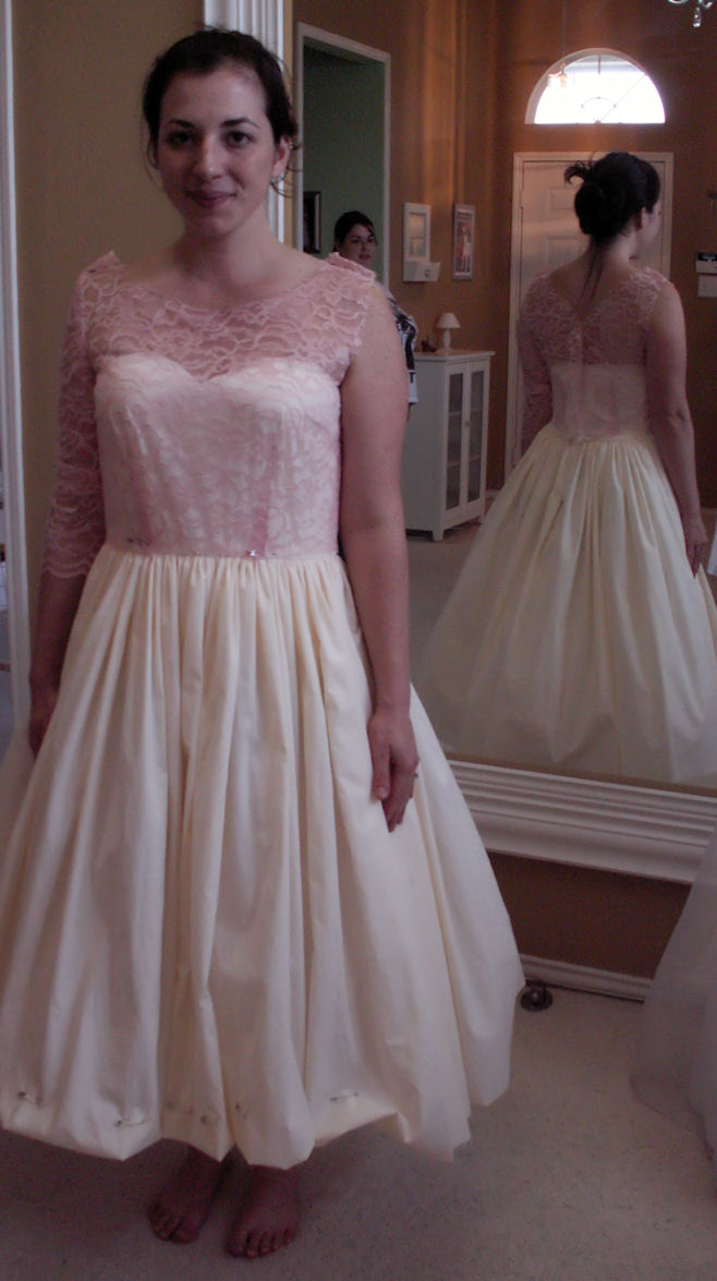fifties style wedding dress | Custom Style