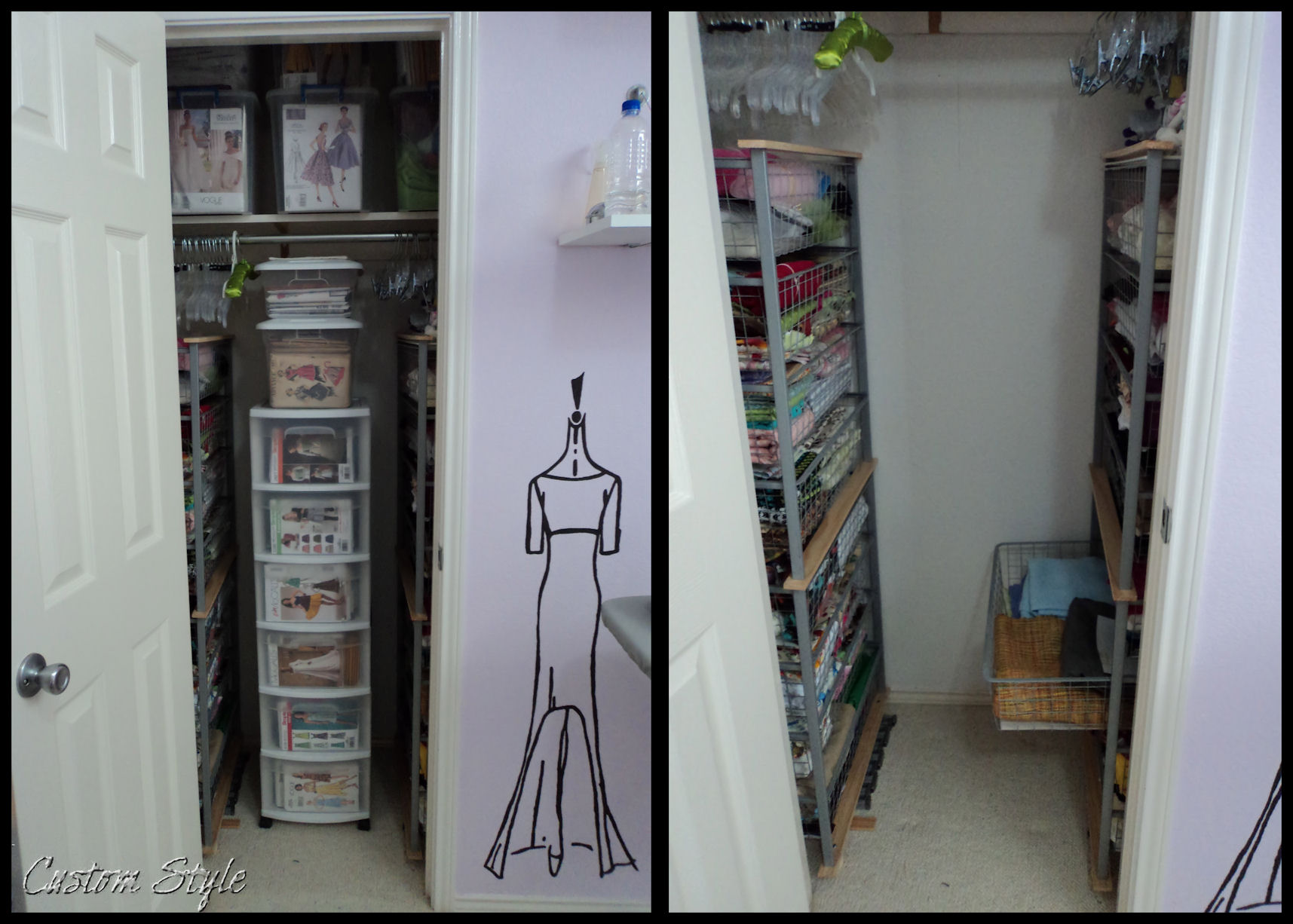 Closet Tower With Drawers How I Organized My Sewing Room Custom Style