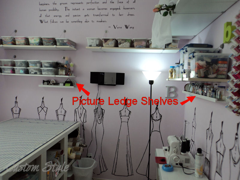 how i organized my sewing room custom style