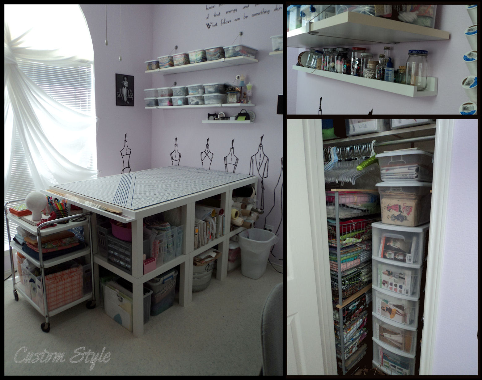 How I Organized My Sewing Room Custom Style