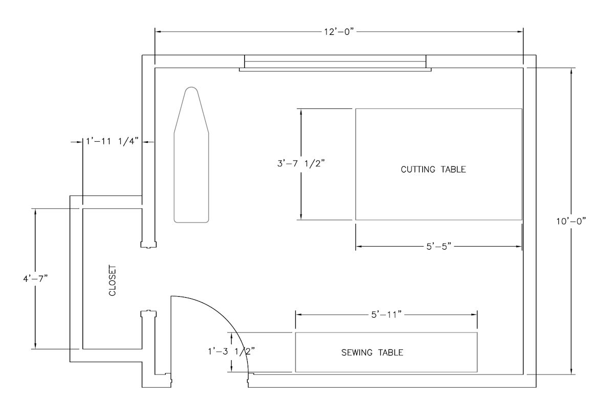 My Sewing Room Floor Plan
