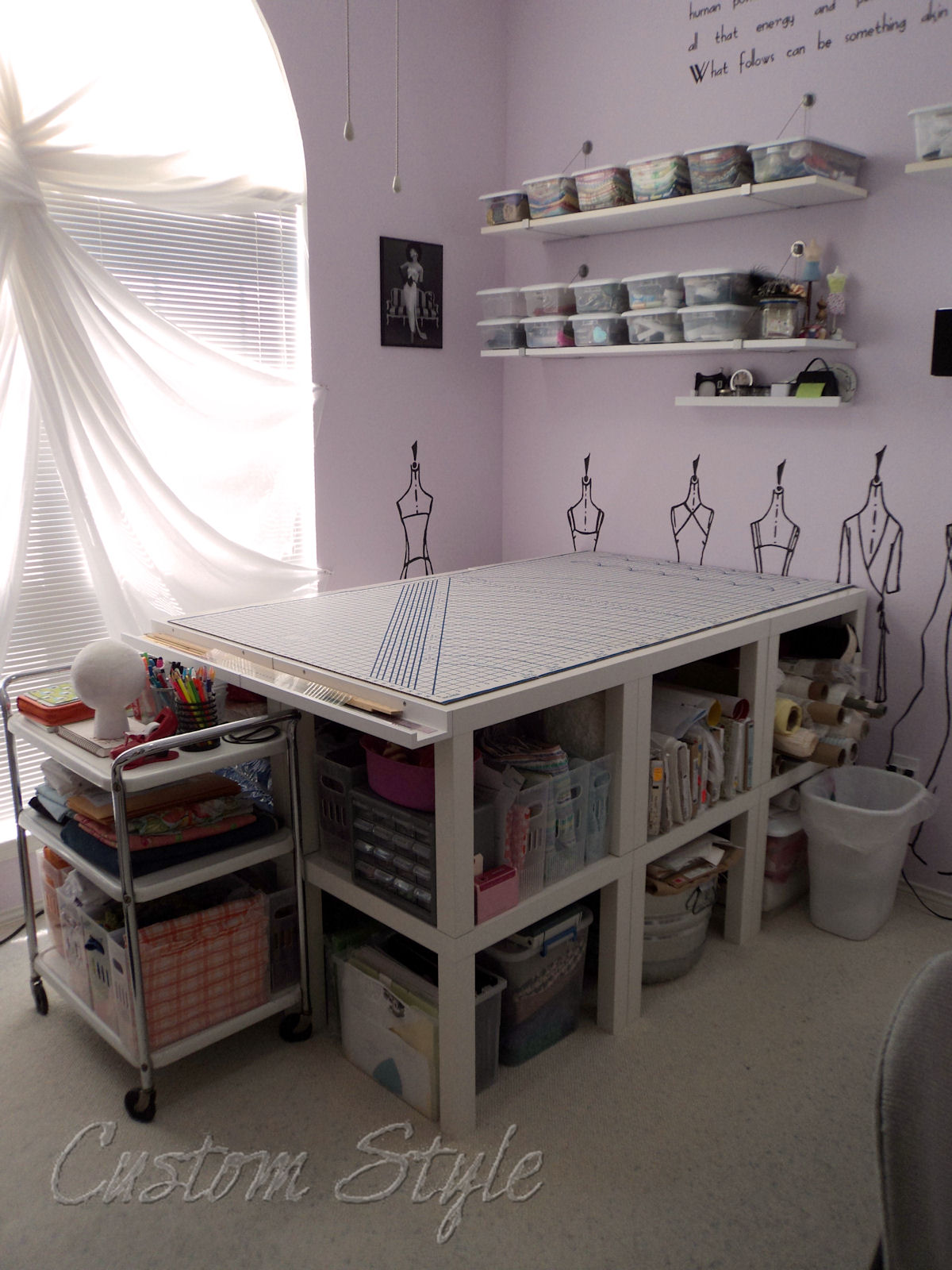 My sewing space the sequel custom style - Customiser table basse ikea ...