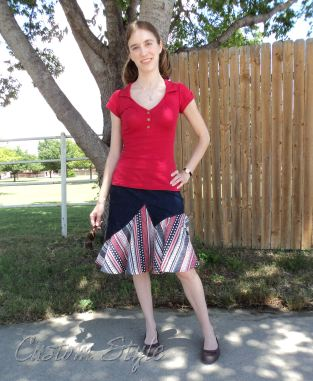 My casual patriotic skirt.
