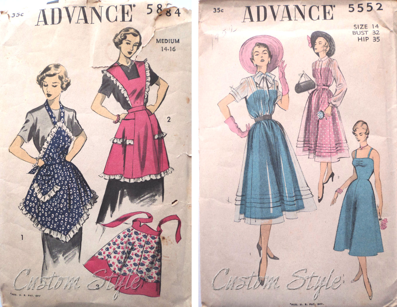 advance 5884 apron pattern in my collection of aprons version 1 is my