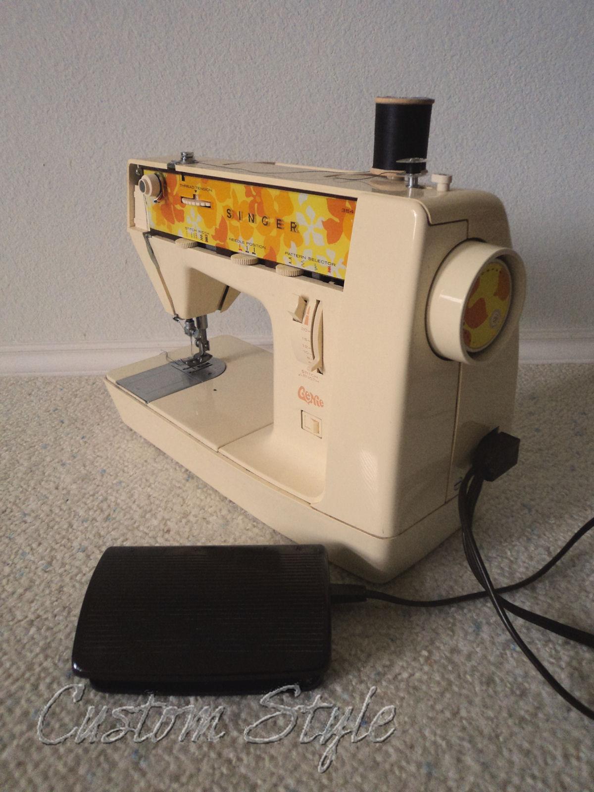 Singer genie custom style - Machine a presser orange ...