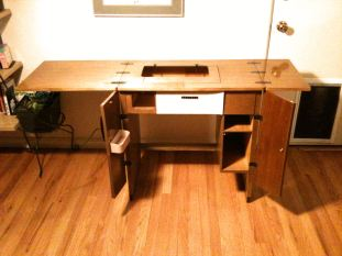 Sewing Cabinet Open