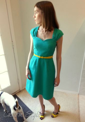 Cambie-Dress-with-Yellow-Shoes-and-Belt