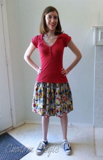 Elastic-Waist-Gathered-Skirt
