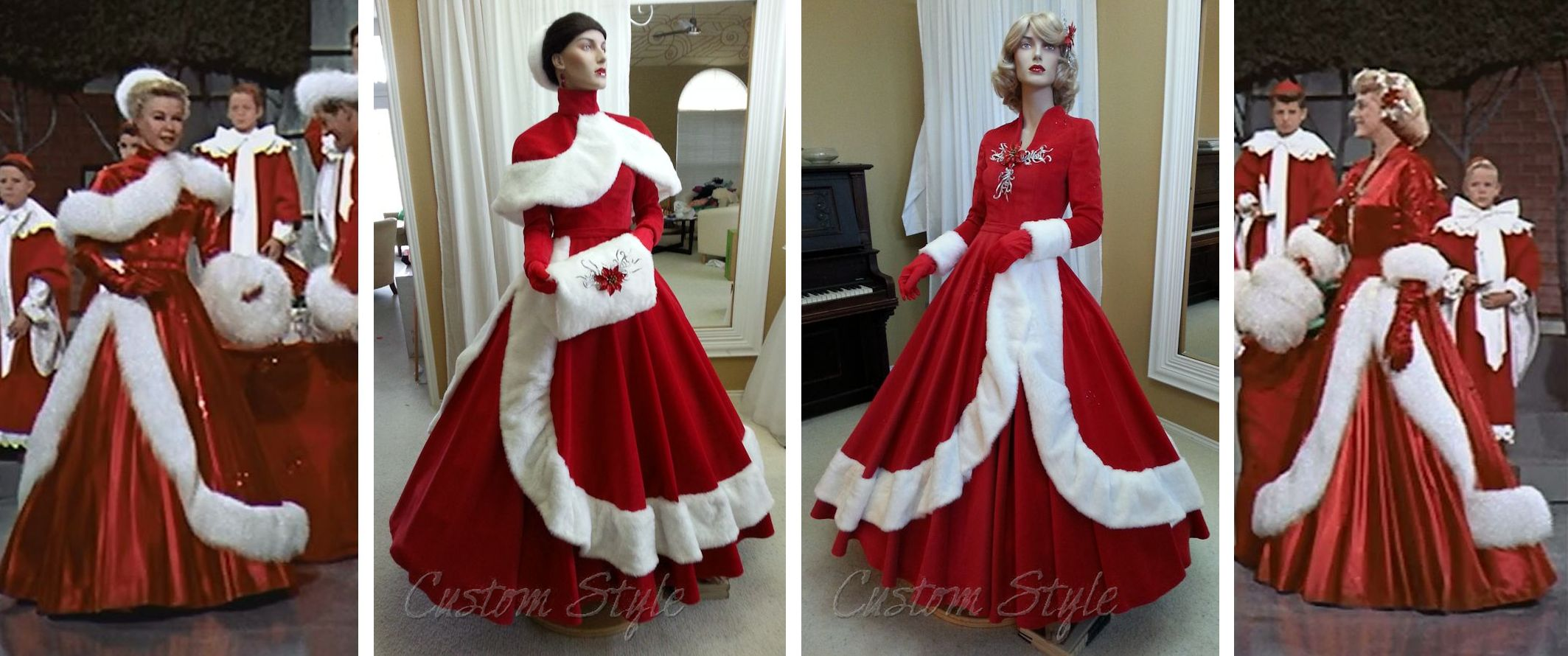 White Christmas Dresses for The Fantasy of Lights | Custom Style